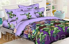 Детское постельное белье полуторное Черепашки ниндзя подростковый