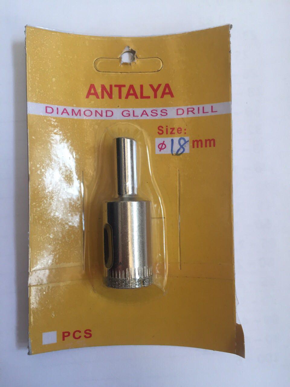 Коронка по стеклу и керамике ANTALYA 18 мм