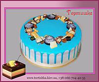 Торт с цветными подтеками