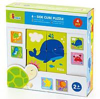 """Пазл-кубики """"Подводный мир"""" (50161), Viga Toys"""