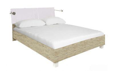 Ліжко з ДСП/МДФ в спальню Верона 1,8х2,0 м'яка спинка з каркасом Миро-Марк