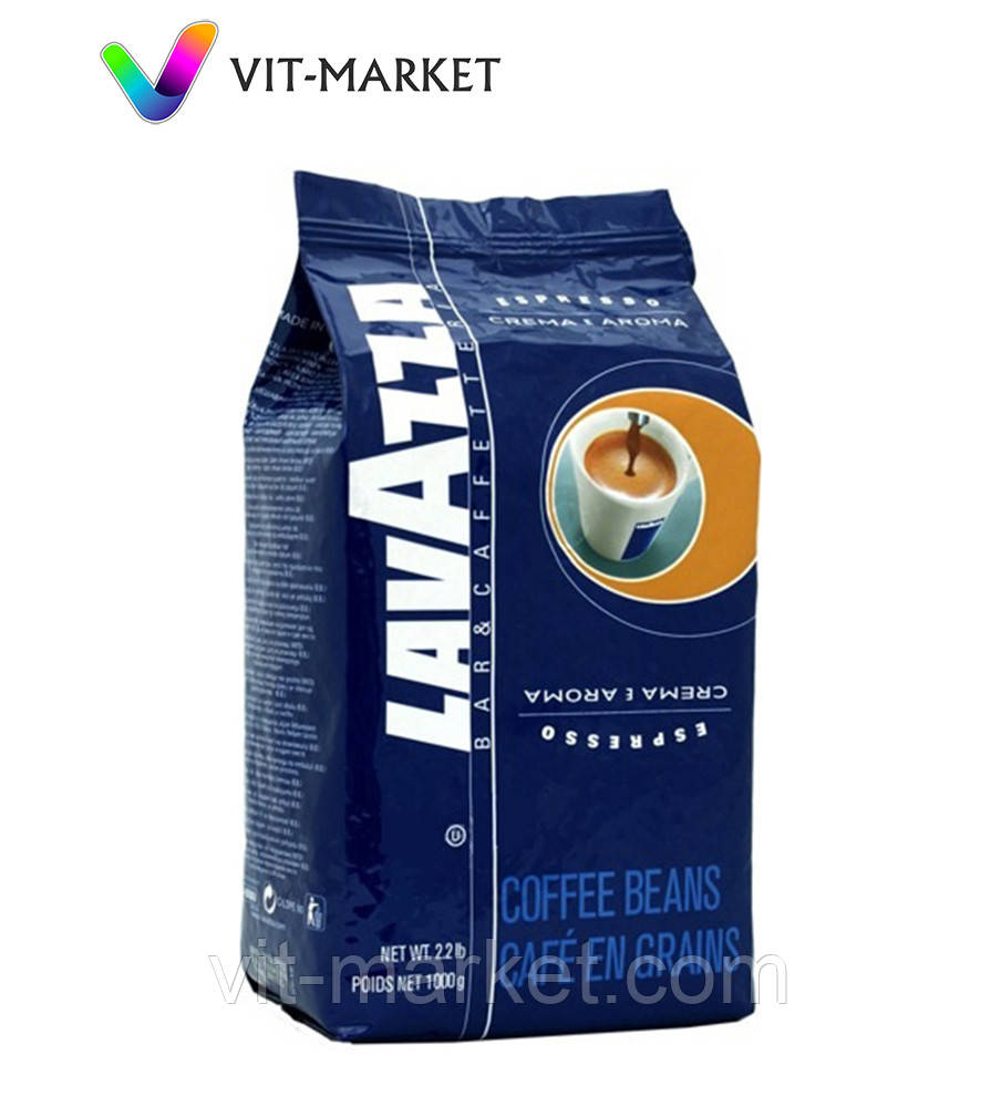 Зернове кави 1 кг Lavazza Crema e Aroma Espresso Blue код KL1002