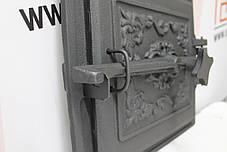 Дверцы топочные 365х330 мм Чугунная дверка для печи барбекю, фото 2