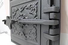 Дверцы топочные 365х330 мм Чугунная дверка для печи барбекю, фото 3