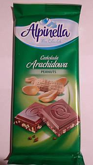 Шоколад Alpinella молочный с арахисом, 90 г