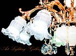 Классическая золотая люстра с плафонами 6621/8, фото 3