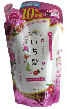 Шампунь Ichikami разглаживающий для поврежденных волос с ароматом горной сакуры 374 мл (72143)