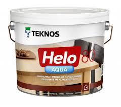 Водний лак TEKNOS helo aqua 40 9 л напівглянцевий Текнос хелоу 40