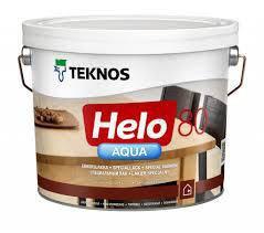 Водный лак TEKNOS helo aqua 40 9 л полуглянцевый Текнос хело 40