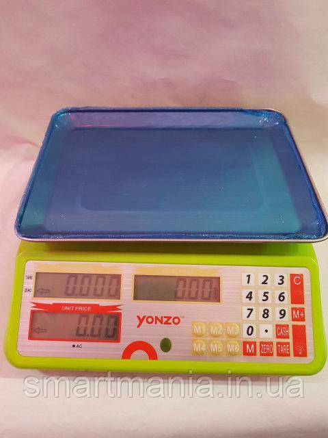 Весы электронные торговые с калькулятором до 40 кг YONZO YZ-988