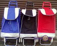 Сумка на колесах хозяйственная синяя h-94 см.