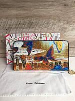 Яркий кожаный женский кошелек Velina Fabbiano, фото 1