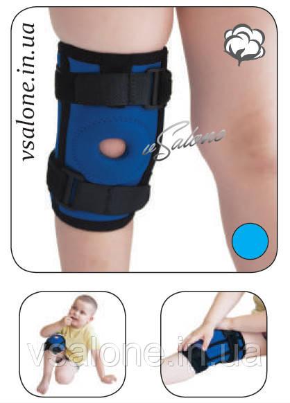 Бандаж коленного сустава неопреновый со спиральными ребрами жесткости детский Алком 4035К размер 1,2,3,4