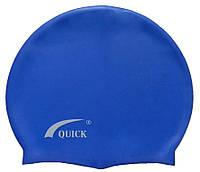 Шапочка для плавання «юніор» синього кольору, фото 1
