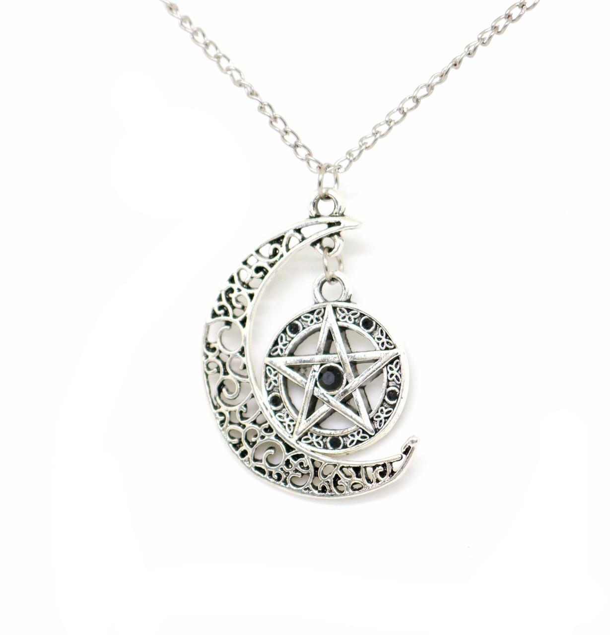 Кулон пентаграмма с камнями и кельтским узором