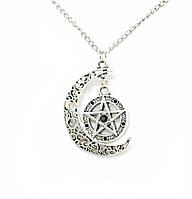Серьги пентаграмма с камнями и кельтским узором