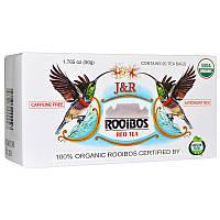 Port Trading Co., J&R, красный чай с ройбушем, без кофеина, 20 пакетиков, 1,765 унции (50 г)