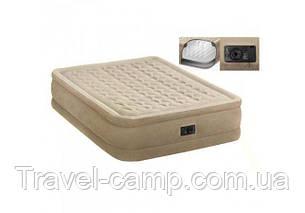 Надувна велюрова ліжко (двоспальне) Intex, фото 2