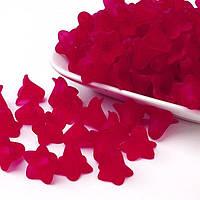 Намистини Акрил Матові Прозорі Квітка 25г Червоний