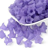 Намистини Акрил Матові Прозорі Квітка 25г Фіолетовий