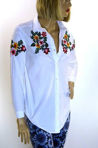 Жіноча біла сорочка з вишивкою, фото 2