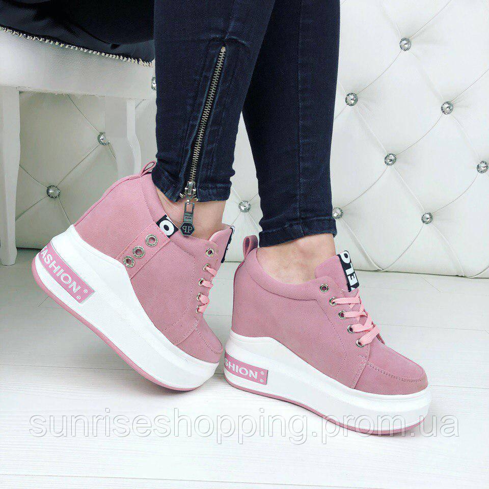 Стильные женские розовые кроссовки, сникерсы