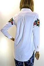 Жіноча біла сорочка з вишивкою, фото 3
