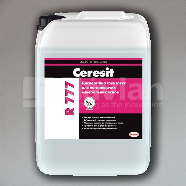 Дисперсионная грунтовка для впитывающих минеральных оснований Ceresit R777, 10л