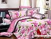 Комплект 3D постельного белья 2-спальный евро Розы в шоколаде - Фото