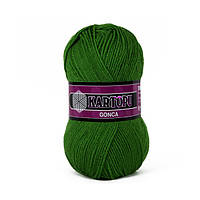 Турецкая  пряжа для вязания KARTOPU GONCA ( ГОНКА)  акрил 392 зеленый