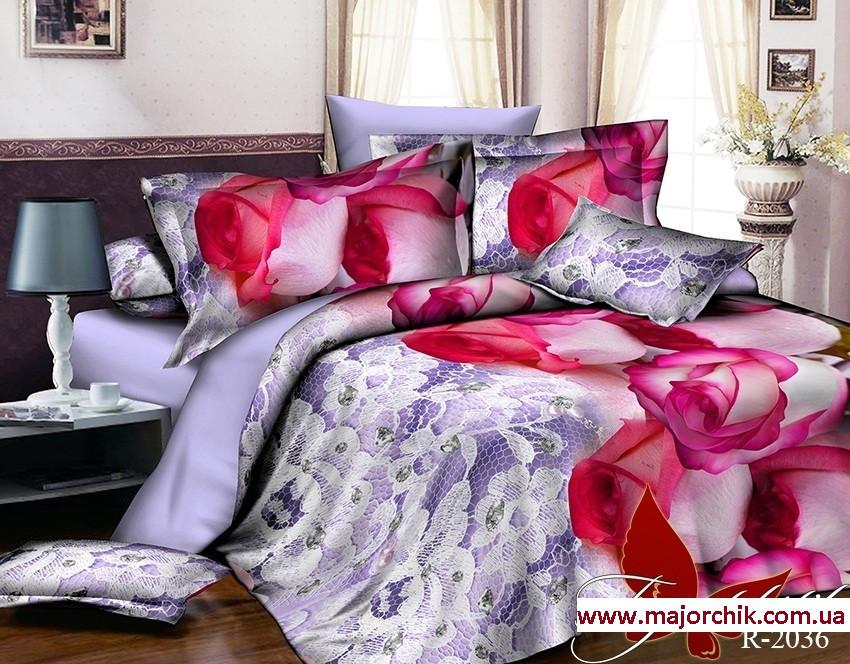 Комплект 3D постельного белья 2-спальный евро Розовые Розы  продажа ... b1af4e4a4419b