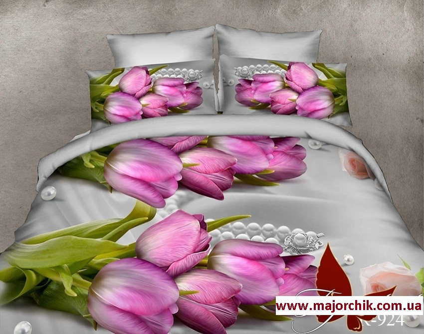 1aeca3b5e0c2 Комплект 3D постельного белья 2-спальный евро Нарцисс, цена 679 грн.,  купить в Одессе — Prom.ua (ID#662655546)