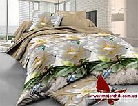 Комплект 3D постельного белья 2-спальный евро Нарцисс