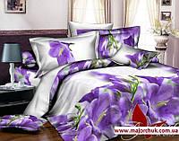 Комплект 3D постельного белья 2-спальный евро Цвет, фото 1