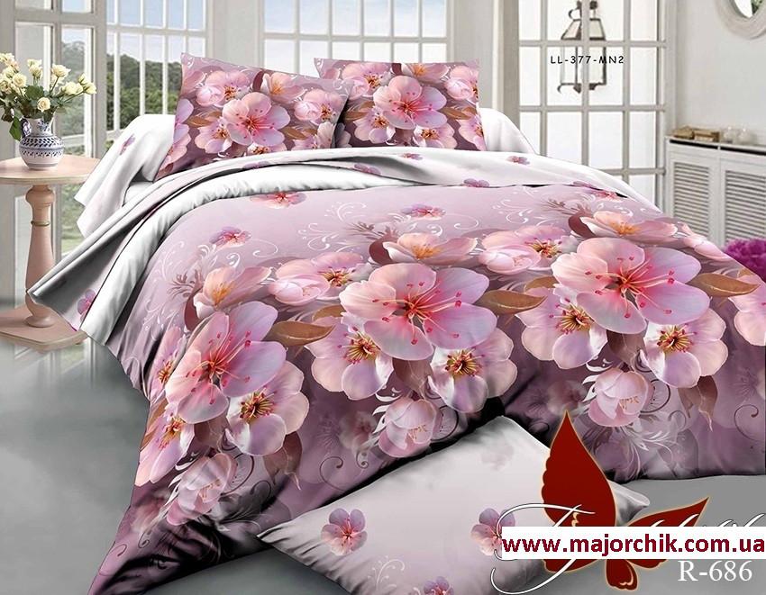 Комплект 3D постельного белья 2-спальный евро Цвет вишни  продажа ... 1f52313e454f0
