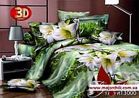 Комплект 3D постельного белья 2-спальный евро Лилии, фото 1