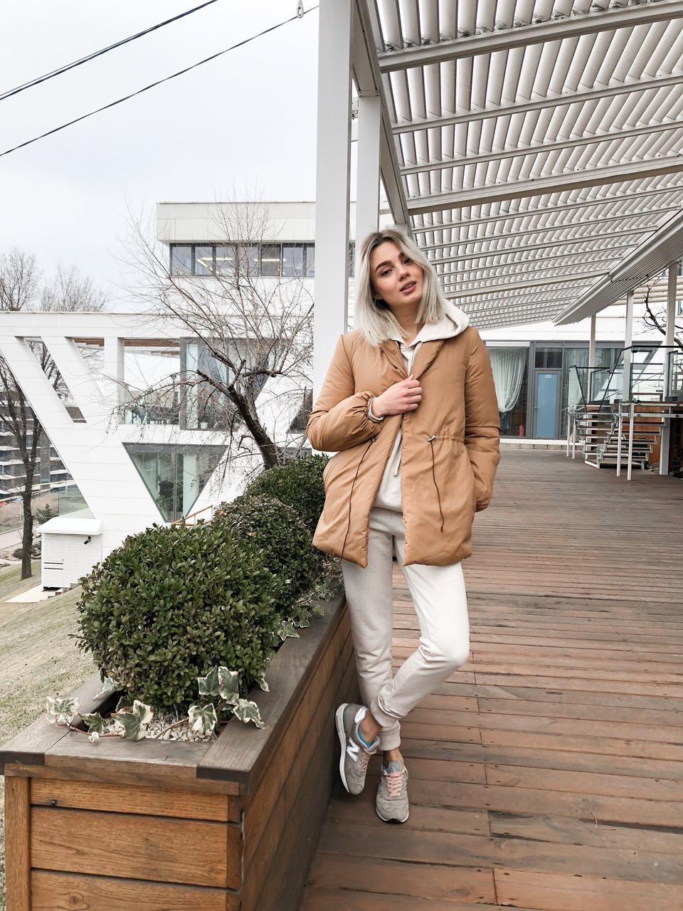 Женская весенняя короткая куртка, цвет кэмэл - Lulashop в Мукачево 71345e1e3e4