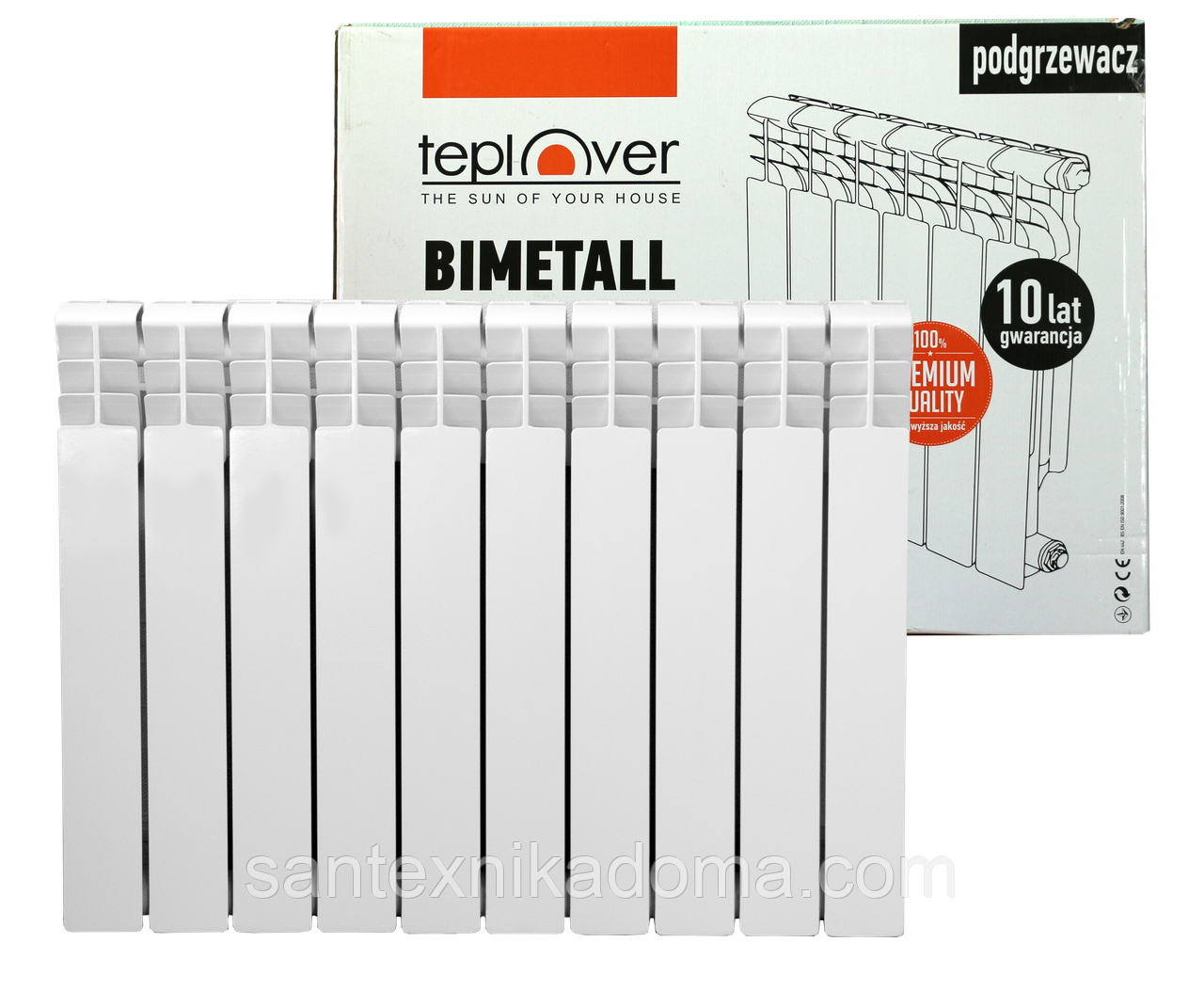 500/80 Биметаллический радиатор 10 секций TEPLOVER