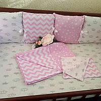 Бортики на 3 стороны + комплект постельного белья, фото 1