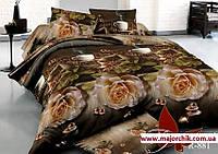 Комплект 3D постельного белья 2-спальный семейный Розы