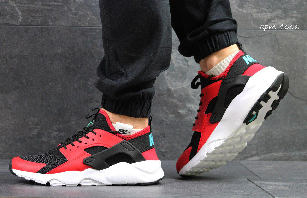 3dc9622c Кроссовки в стиле Nike Huarache (черно красные) кроссовки найк хуарачи nike  4656 - Интернет