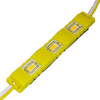 Светодиодный модуль BRT M2 5630-3 led Y 1,5W, 12В, IP65 желтый закрытый с линзой