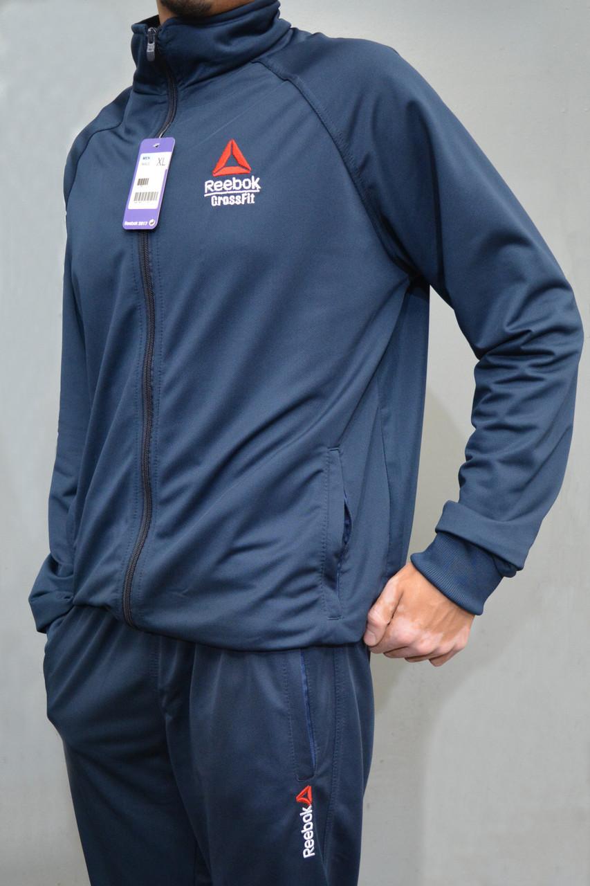 5e293c42bcedd4 Мужской спортивный костюм Reebok Crossfit (Рибок) | Турция, Трикотаж лакост  - темно синий