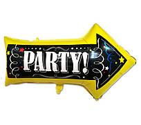 """Фольгированный шар - фигура """"Стрелка party вечеринка"""" 50 * 80 см"""