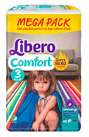 Подгузники LIBERO Comfort 3 Midi (4-9 кг) 88шт. Hero Collection