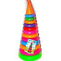 Пирамидка №3 арт.019 46см. 12колец, детская пирамидка, развивающая игрушка, пирамидка большая