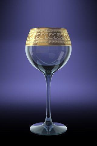 "Набор бокалов 280 мл для вина GE08-1688 ""Эдем"" рисунок ""Версаче"" 6 шт."