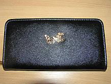 Гаманець-клатч жіночий 20,5х11х3 див. Чорний однотонний Карета