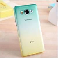Силиконовый чехол для Samsung Galaxy A8 двухцветный (Цвет 1)