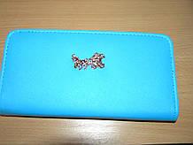 Гаманець-клатч жіночий 20,5х11х3 див. однотонний Блакитний Карета